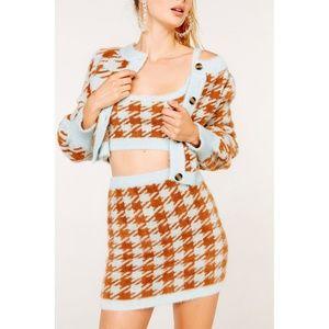 NWT Cher Mini Skirt by For Love & Lemons KNITZ